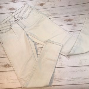 Eileen Fisher White Skinny Jeans